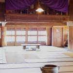 小樽鰊御殿の神棚と大広間