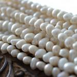 淡水パール真珠ビーズ(バロックパール7mm/ホワイト系)