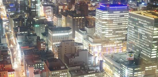 JRタワー展望室T38からの札幌の夜景